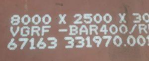 Acier anti-abrasion BAR