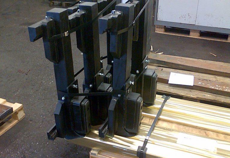 Fourches casier gaz avec revêtement laiton