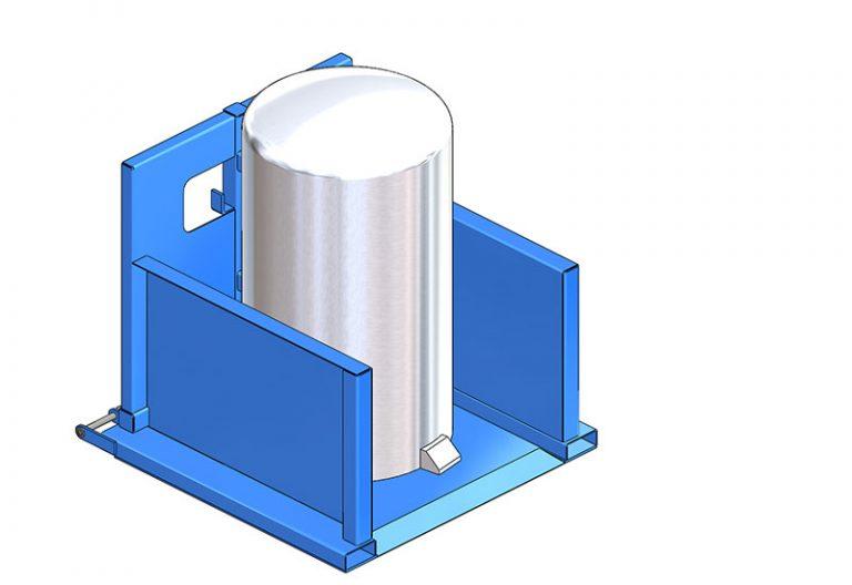 Prise de conteneur cylindrique