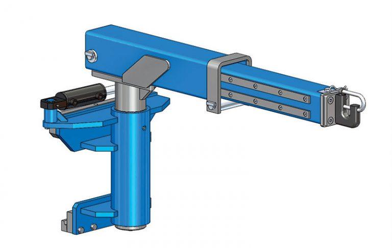 Potence orientable et télescopique hydraulique